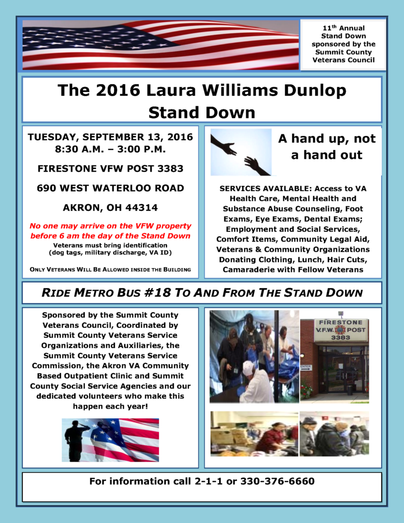 Stand Down Flyer 2016